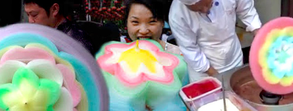 chinese folk cotton candy creation