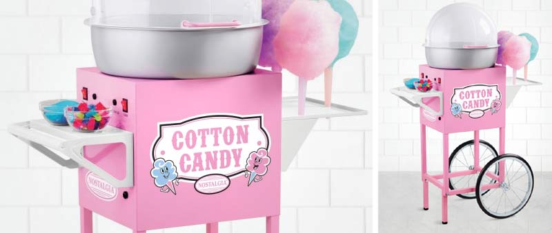 how to clean a nostalgia cotton candy machine